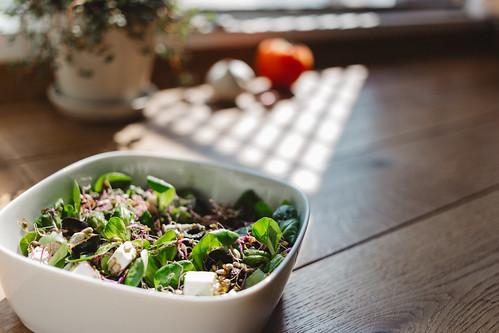 A lamb's lettuce salad