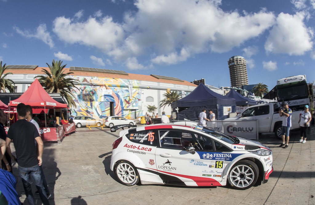 15 MONZON ARTILES Luis Felipe (ESP), DENIZ HOLTMMAN Jose Carlos (ESP), Ford Fiesta R5, Actionduring the 2017 European Rally Championship ERC Rally Islas Canarias, El Corte Inglés,  from May 4 to 6, at Las Palmas, Spain - Photo Gregory Lenormand / DPPI