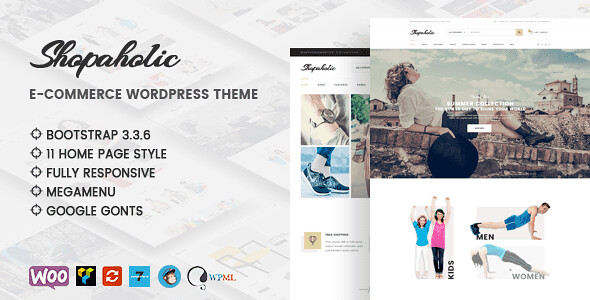 Shopaholic WordPress Theme free download