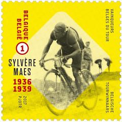 postzegels reeks tourwinnaars Druk zonder perfo