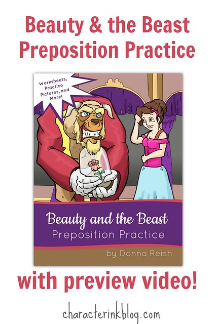 Beauty and the Beast Preposition Practice [with preview video!]