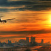 Sunset Arrival at London City Airport