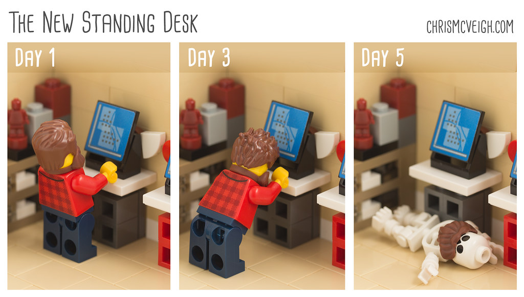 The New Standing Desk (custom built Lego model)