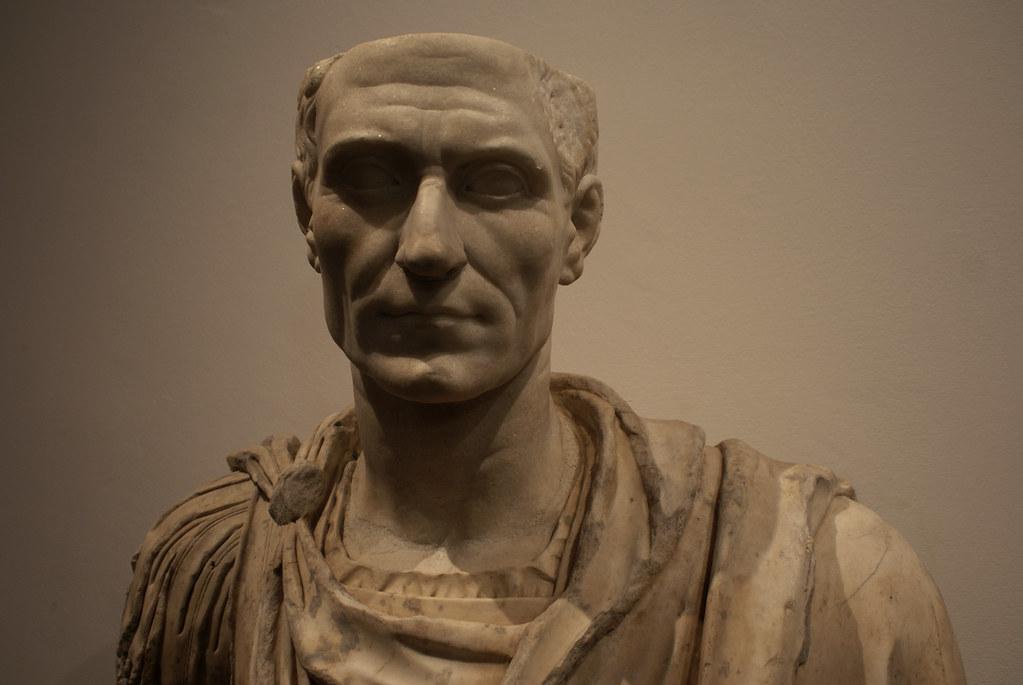 Statue de César à la Galerie Saubada à Turin.