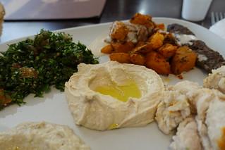 Hummus @ Kaza plate @ Kaza Maza @ Montparnasse @ Paris