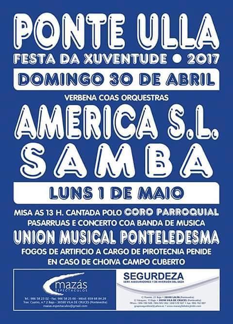 Vedra 2017 - Festa da Xuventude en Ponte Ulla - cartel