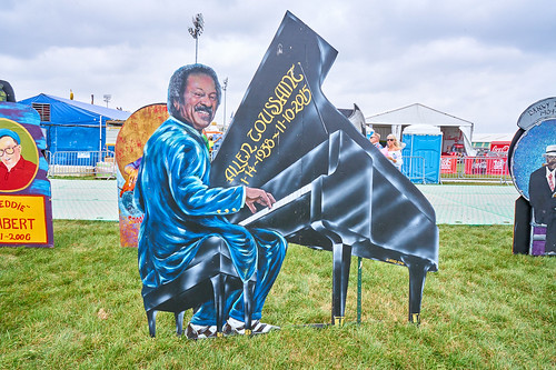 Allen Toussaint with the ancestors on April 28 2017 Day 1 of Jazz Fest. Photo by Eli Mergel