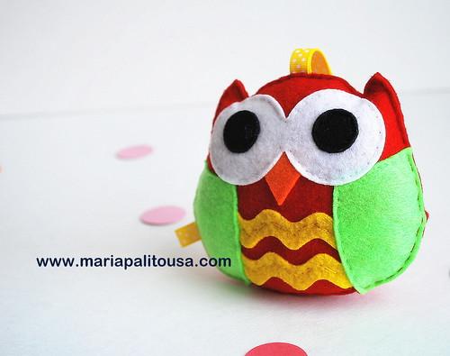 Festive Felt baby Owl !! by Mariapalito