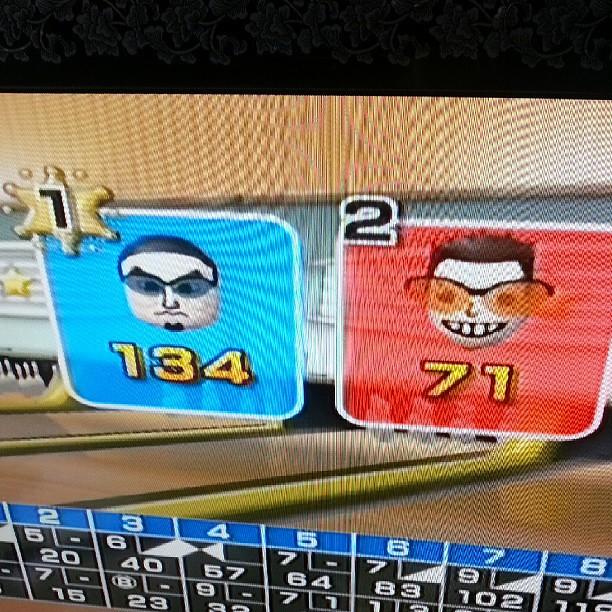 Jai battu mon fils au bowlings ^^ #wii