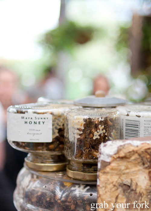 raw honeycomb by maya sunny honey at the grounds of alexandria markets