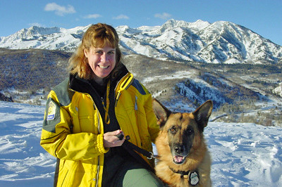 "U.S. Forest Service Law Enforcement Officer Kristine Fairbanks and K9 ""Hero."" (U.S. Forest Service photo)"