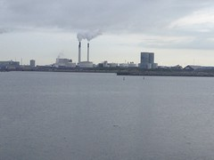 horizon, skyline, power station,