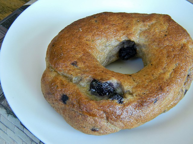 Blueberry Egg Bagels