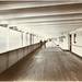 Small photo of First class promenade deck, looking aft