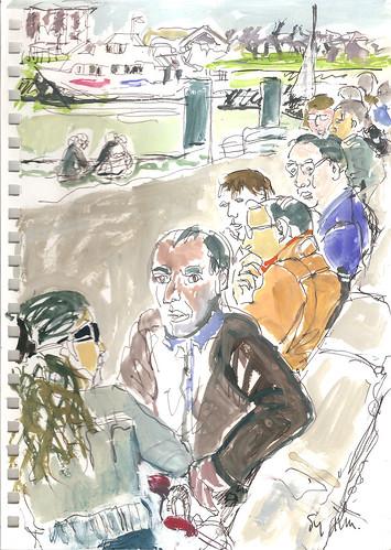 39ème Sketcrawl  La Rochelle by sylvie dubost perret