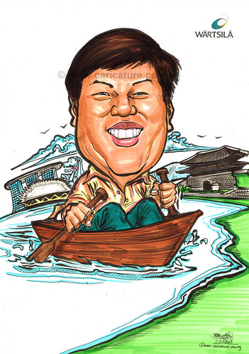 Mr Foo caricature for Wartsila