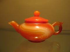 Ginger Jadite Teapot