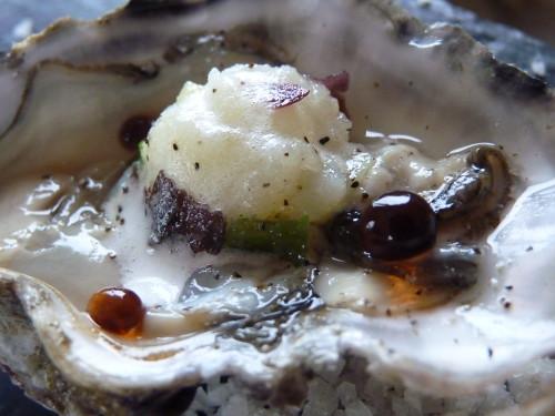Huîtres aux perles de pommes de terre de Noirmoutier