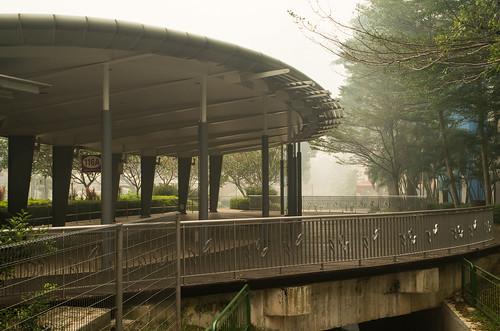 Haze enveloping a park at Bukit Merah Central