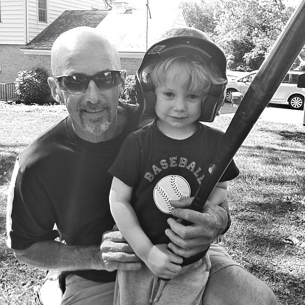 Baseball with Poppy... #macefamilysummer