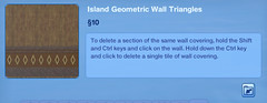 Island Geometrioc Wall Triangles 2