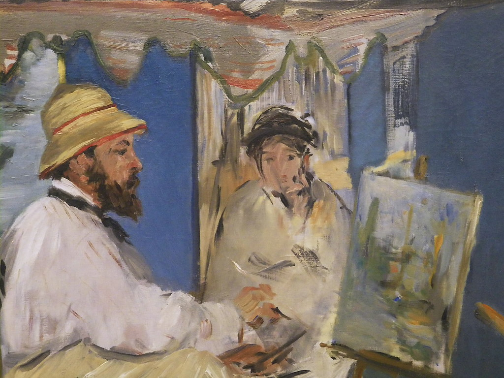 Картинки по запросу édouard manet monet in his studio boat