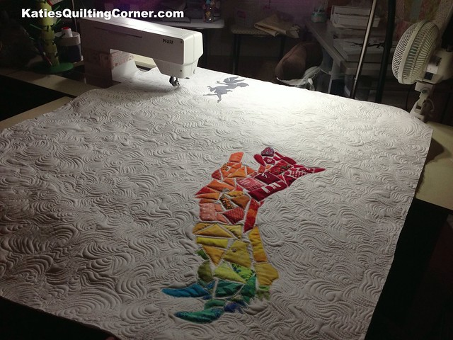 Corgi fairy tale quilt