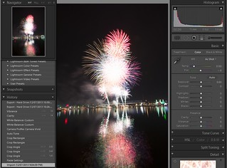 Docklands Fireworks - Lightroom - Stage 1