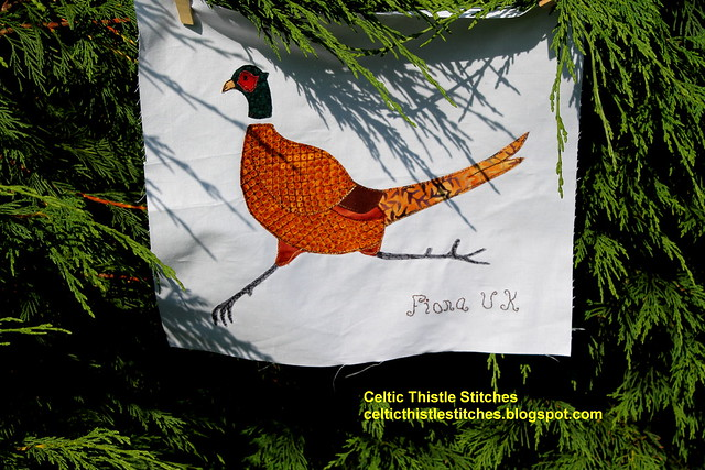 Applique Pheasant block