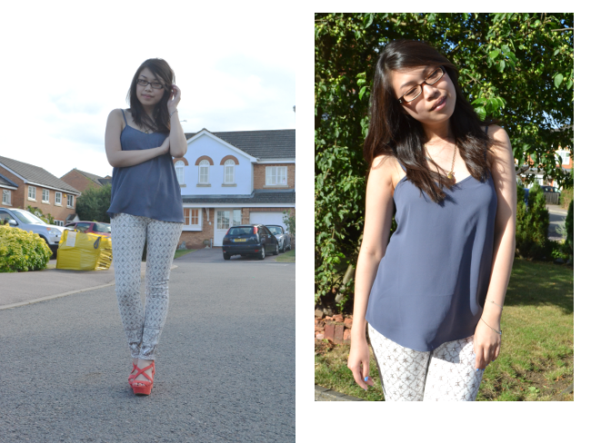 Daisybutter - UK Style and Fashion Blog: what i wore, ootd, topshop cami, 7FAM jeans, casual outfits, SS13