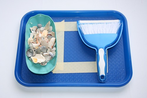 Sweeping Seashell Pieces (Photo from Our Country Road)