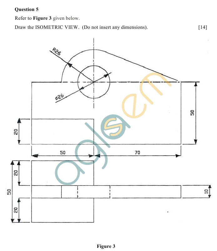ICSE Class 10Technical Drawing Sample Paper