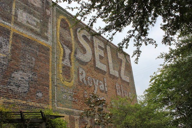 Selz Royal Blue Shoes Ghost Sign, Columbus MS