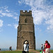 Glastonbury Tor & St Michael's Tower by Sarah Elizabeth R