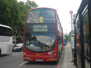 Go-Ahead London WVL129 on Route 36 Extra, Park Lane