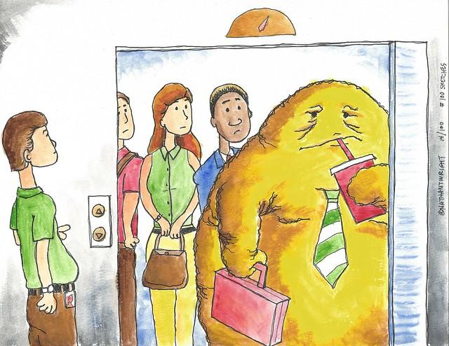 Fatberg in an elevator