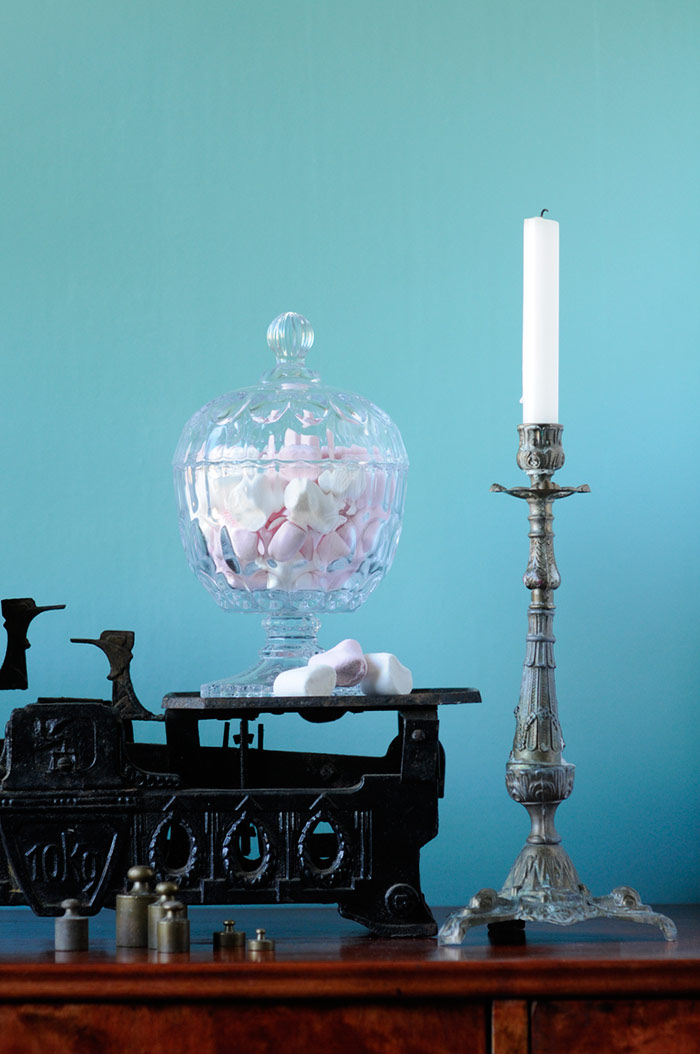 Flea Market Finds - Vintage Scale, Candle Holder and Glass Jar
