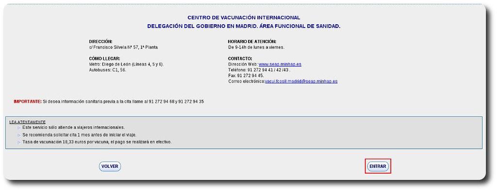 Cita Previa Centro De Vacunacion Internacional De Madrid Adminfacil