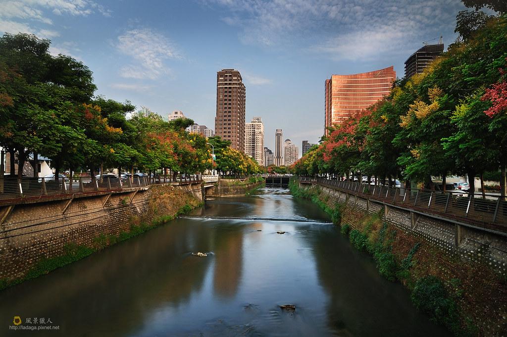 秋紅潮洋溪