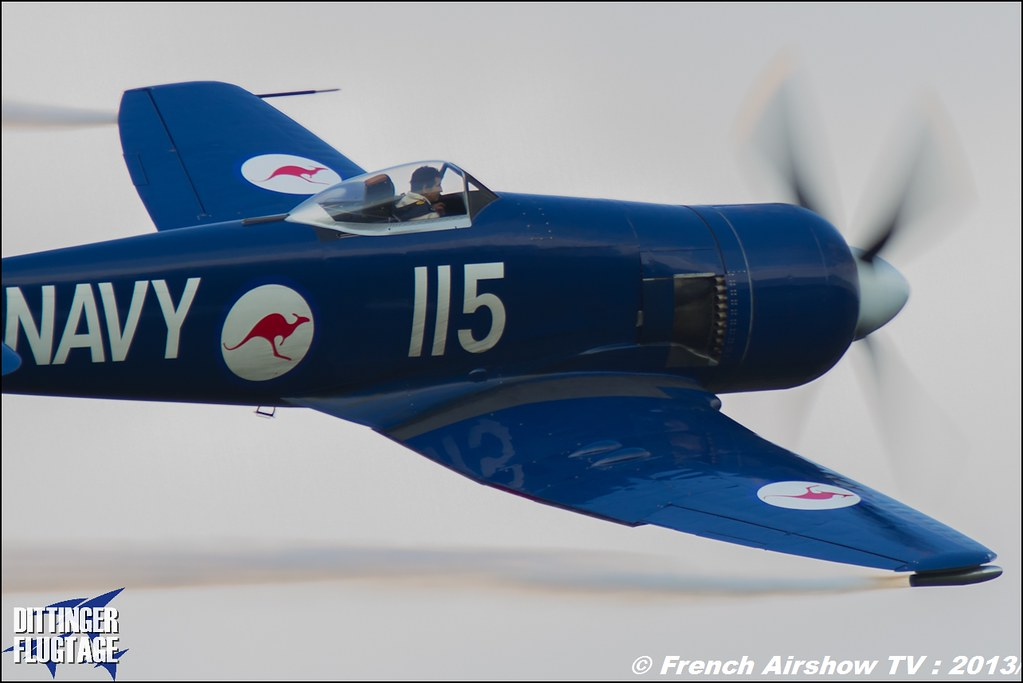 Hawker Sea Fury FB.11 WH589/F-AZXJ France Christophe JACQUARD Dittinger Flugtage 2013