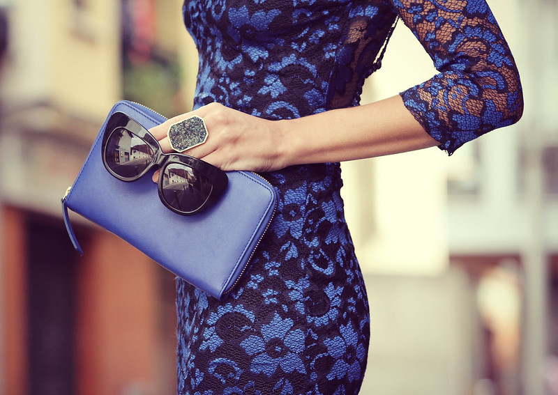 style lover blue lace dress IV