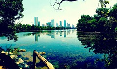 View of downtown Austin from Zilker Park