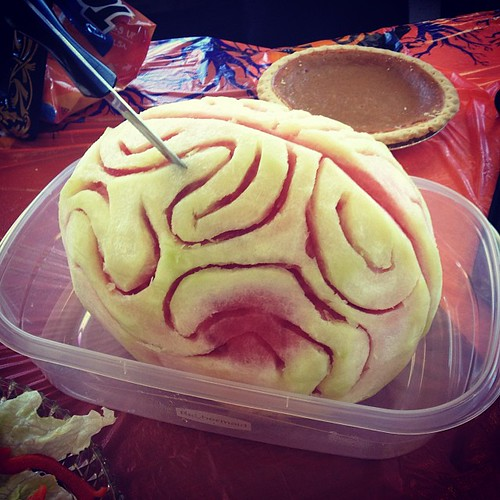 One of the scary foods. It's a watermelon brain! LOVE IT!