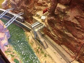 einer der Höhepunkte der Ausstellung: Das neue Rio Grande - Royal Gorge Modul