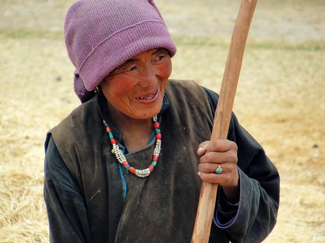 Γυναίκα στο Zanskar!
