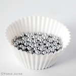 Silver sugar pearls
