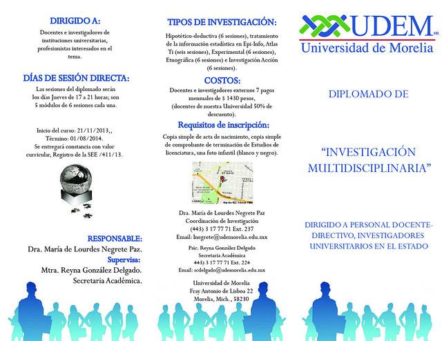 Diplomado en Investigación Multidisciplinaria