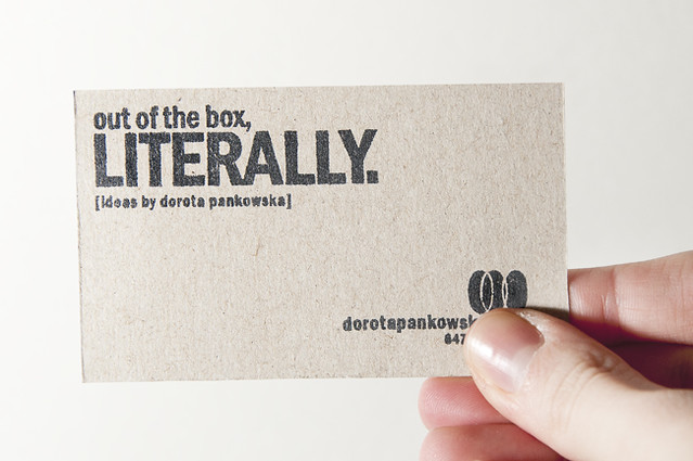 out of the box business cards