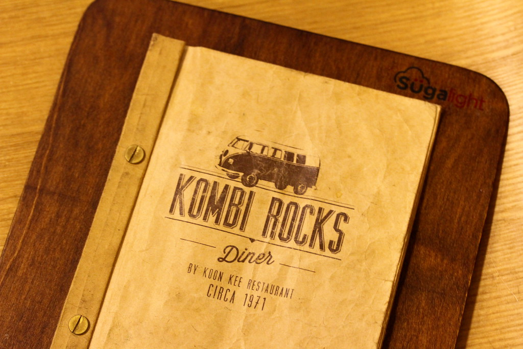 Kombi Rocks Menu Cover