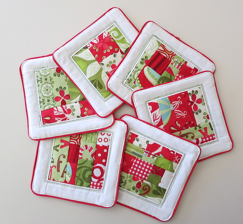 "Christmas coasters to Liz for ""FLIRTS"""
